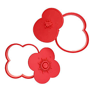2 Poppy Cookie Cutters with Press Insert and RBL Charity Donation alt image 10