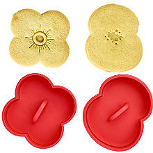2 Poppy Cookie Cutters with Press Insert and RBL Charity Donation