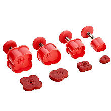 4 Poppy Plunger Icing Cutters with RBL Donation