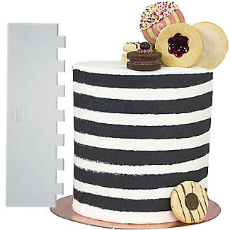 PME Patterned Edge Side Scraper for Cake Decorating – Stripes