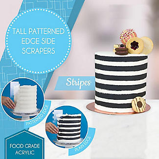 PME Patterned Edge Side Scraper for Cake Decorating – Stripes  alt image 2