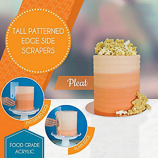 PME Tall Patterned Edge Side Scraper for Cake Decorating – Pleat alt image 2