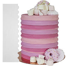 PME Tall Patterned Edge Side Scraper for Cake Decorating – Ribbed