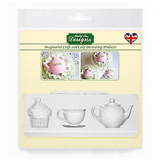Katy Sue Designs Afternoon Tea Flexible Silicone Mould alt image 6