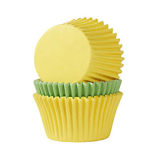 72 Bright Yellow and Green Cupcake Cases