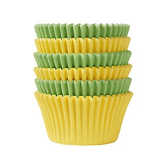 72 Bright Yellow and Green Cupcake Cases alt image 3