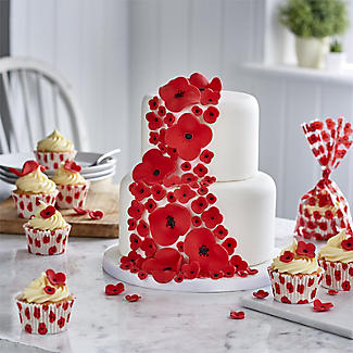 48 Poppy Cupcake Cases with RBL Charity Donation alt image 2