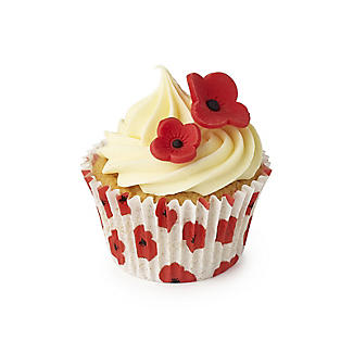 48 Poppy Cupcake Cases with RBL Charity Donation alt image 3