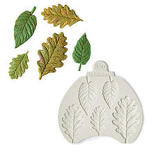 Katy Sue Designs Blackberry and Oak Leaves Silicone Mould