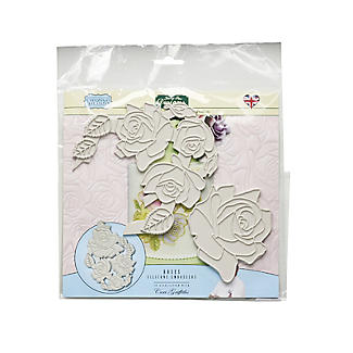 Katy Sue Designs Creative Cake Silicone Mould Embosser – Roses alt image 3