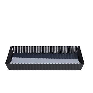 Enamel Base Loose-Based Fluted Flan, Tart & Quiche Tin – Rectangular alt image 2