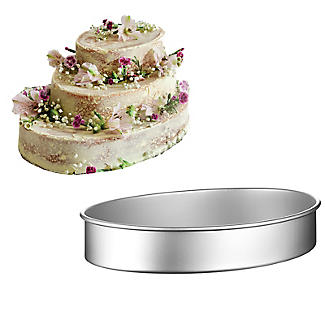 Lakeland Silver Anodised Aluminium Medium Oval Cake Tin – 28 x 21cm