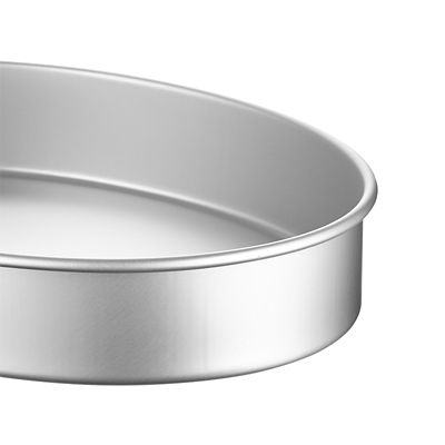 Silver Oval Shaped Cookie Storage Tin Ideal for Kitchen worktop Storage