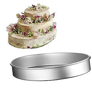 Lakeland Silver Anodised Aluminium Large Oval Cake Tin – 35.5 x 26.5cm