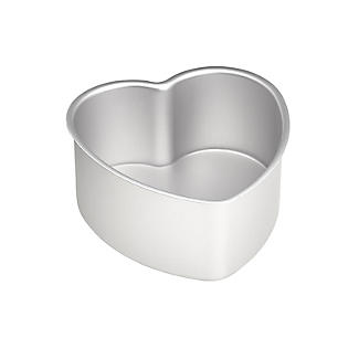 Lakeland Silver Anodised Aluminium 15cm Loose-Based Heart Tin
