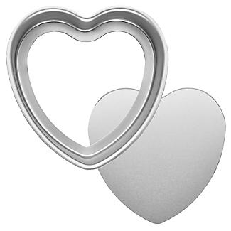 Lakeland Silver Anodised Aluminium 15cm Loose-Based Heart Tin alt image 4
