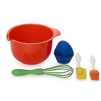 Children's 10pc Baking Gift Set with Bowl, Whisk and Spatula