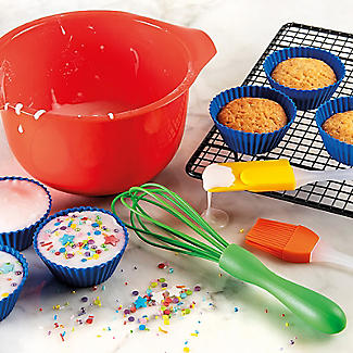 Children's 10pc Baking Gift Set with Bowl, Whisk and Spatula  alt image 2