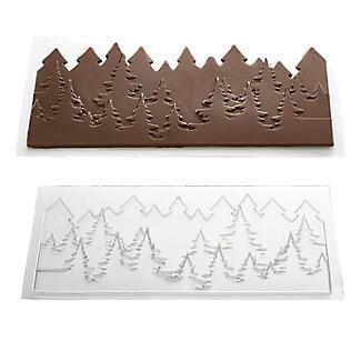 Pine Trees Skyline Chocolate Mould 27 x 13cm