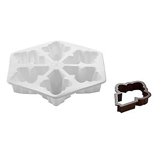Snowflake Silicone Dessert Jelly Mould and Cutter