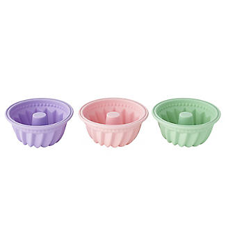 6 Individual Silicone Bund Cake or Jelly Moulds  alt image 3