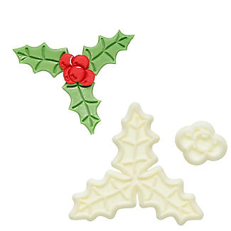 JEM Pop It Mould – Holly and Berries Icing Moulds