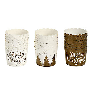 Gold Print Festive Muffin Cases – Pack of 24