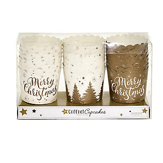 Gold Print Festive Muffin Cases – Pack of 24 alt image 2