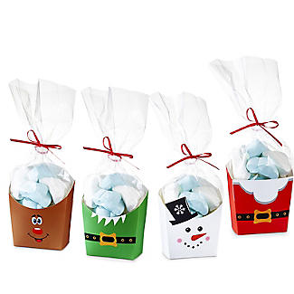 Christmas Treat Boxes with Presentation Bags – Pack of 4 alt image 4