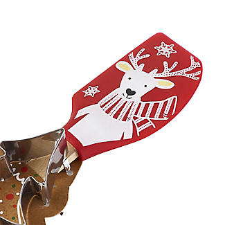 Reindeer Spatula and Christmas Tree Cookie Cutter Set alt image 3