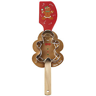 Gingerbread Man Spatula and Cookie Cutter Set
