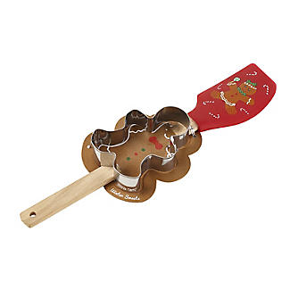 Gingerbread Man Spatula and Cookie Cutter Set alt image 2