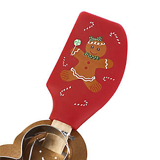 Gingerbread Man Spatula and Cookie Cutter Set alt image 3