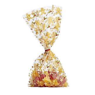 20 Gingerbread Friends Presentation Gift Bags 12.5 x 29cm
