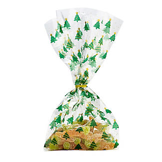 20 Traditional Christmas Trees Presentation Gift Bags 12.5 x 29cm