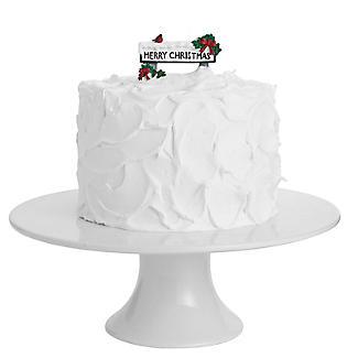 Merry Christmas Street Sign Resin Cake Topper alt image 2