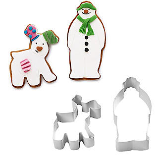 Snowman and Snowdog 2-Piece Cookie Cutter Set