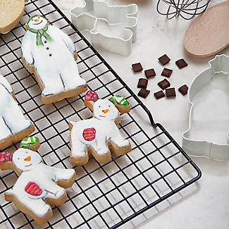 Snowman and Snowdog 2-Piece Cookie Cutter Set alt image 2