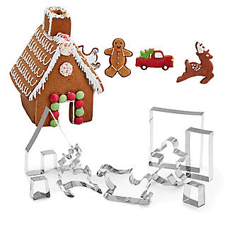 9pc Christmas Gingerbread House Cutter Gift Set