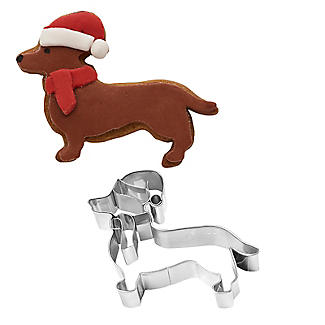 Dachshund Christmas Cookie Cutter Stainless Steel