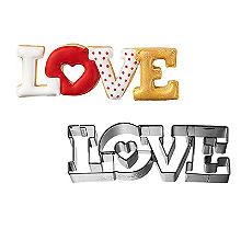 RBV Birkmann LOVE Lettering Stainless Steel Cookie Cutter