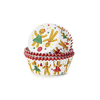 Gingerbread People Foil-Lined Cupcake Cases – Pack of 30