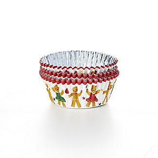 Gingerbread People Foil-Lined Cupcake Cases – Pack of 30 alt image 2