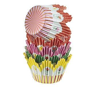 60 Floral Tulip Cupcake Cases