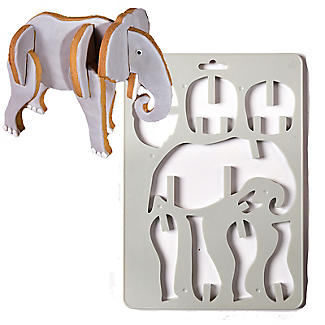 Bake-and-Build 3D Elephant Cookie Cutter