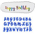 Alphabet Upper & Lower Case Letters Script Cake Stamps