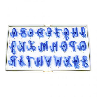 Alphabet Upper & Lower Case Letters Script Cake Stamps alt image 9