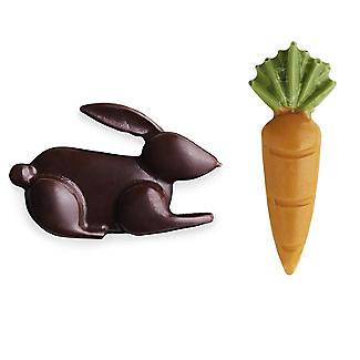 Silicone Easter Bunnies and Carrots Chocolate Mould alt image 3