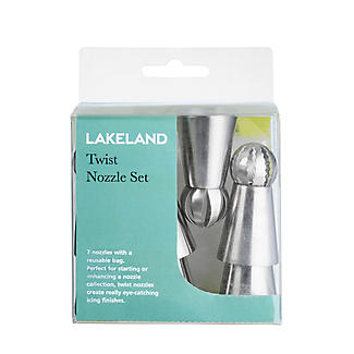 Lakeland 7pc Twist Piping Nozzles & Bag Set  alt image 2