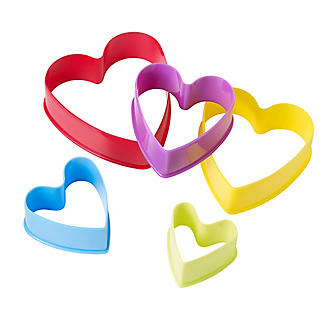 5 Heart Shaped Cookie Cutters Set